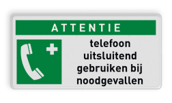 Reddingsbord E004 - Noodtelefoon Reddingsbord E004 - Noodtelefoon + eigen tekst Noodgeval, nood, eerste, hulp, telefoon, E003, vluchtroutebord, reddingsmiddelbord, evacuatie, evacuatiebord, veiligheidspictogram, veiligheidsbord, Nooduitgang pictogrammen, Vluchtrouteaanduiding, Verzamelplaats pictogram, Reddingspictogram, nooduitgang symbool, teken, icoon, symbolen, reddingsborden, bhv bord
