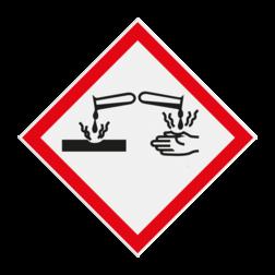 Product GHS05 - Gevaar bijtende stoffen Pictogram GHS05 - Gevaar bijtende stoffen GHS, gevaar, symbolen, pictogrammen, reflecterend, chemicals, stoffen, mengsels, danger