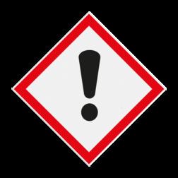 Product Gevaar schadelijke / irriterende stoffen Pictogram GHS07 - Gevaar schadelijke / irriterende stoffen GHS07 GHS, gevaar, symbolen, pictogrammen, reflecterend, chemicals, stoffen, mengsels, danger