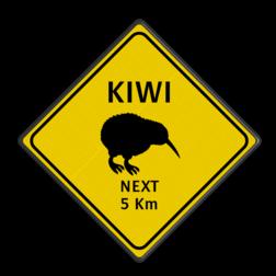 Verkeersbord Australie - KIWI bijzonder verkeersbord, dier, australie