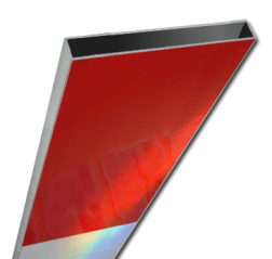 Schrikhekplank 2000mm lang kokerprofiel blokmotief. RVV BB16-1 hekplank, schrikhek, rood, witte, planken, schrikplank, afzethek, blokken, RVV BB15-2, BB15