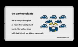 Dick Bruna - Lesbord - de parkeerplaats Nijntje, Dick Bruna, lespakket, verteltas, stoeptegel, Lesbord 'de parkeerplaats'