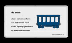 Dick Bruna - Lesbord - de tram Nijntje, Dick Bruna, lespakket, verteltas, stoeptegel, Lesbord 'de tram'