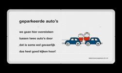 Dick Bruna - Lesbord - geparkeerde auto's Nijntje, Dick Bruna, lespakket, verteltas, stoeptegel, Lesbord 'geparkeerde auto's'