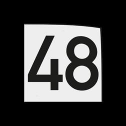 Magneetbordje 150x150x1,5mm wit met zwart cijfer opdruk