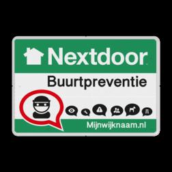 Nextdoor Buurtpreventie bord 01 Whats App, WhatsApp, whatsapp, preventie, attentie, buurt, Nextdoorbord. Veilige buurt, Betere buurt, besloten omgeving.
