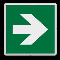 Product Pijl rechts Veiligheidspictogram - Vluchtroute - te volgen richting - Pijl rechts Pijl, rechts, wijzend, pijlen, omhoog