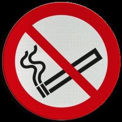 Product P002 - Roken verboden Pictogram P002 - Roken verboden roken, verboden, niet, toegestaan, rookverbod, sigaret, sigaar, C1, pictogram, symbool, teken, NEN, 7010, reflecterend, sticker, klasse 1, klasse 3, vlak, bordje, paneel, kunststof, aluminium