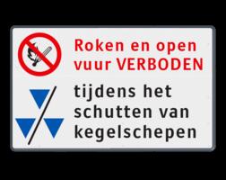 Scheepvaartbord Aanvullende aanduiding Scheepvaartbord 1000x600x28mm Open vuur verboden - kegelschepen tekstbord scheepvaart. F3