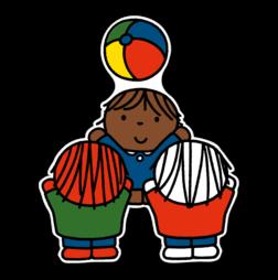 Dick Bruna - Silhouetbord spelende kinderen - Multicultureel Nijntje, vvn, school, schoolzone, kinderdagverblijf, crèche, creche, Miffy, Silhouet,