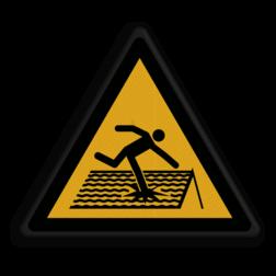 Product Waarschuwing voor statische vloer Veiligheidspictogram - Statische vloer - W036 Statisch, vloer, ondergrond,