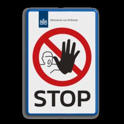 Entreebord STOP-BORD - in huisstijl - P000 logobord, eigen ontwerp, schoolplein, speciale borden