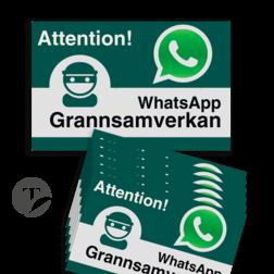 WhatsApp - Sweden - Grannsamverkan Reflecterende stickers (set 10 stuks) - L209wa Whats App, WhatsApp, watsapp, preventie, attentie, buurt, L209, wijkpreventie, straatpreventie, dorpspreventie