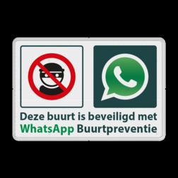 WhatsApp Attentie Buurtpreventie Informatiebord 04 - L209wa L209wf Whats App, WhatsApp, watsapp, preventie, attentie, buurt, L209