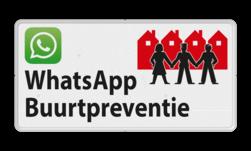 Verkeersbord L209d WhatsApp Buurtpreventie - 01 L209d Whats App, WhatsApp, watsapp, preventie, attentie, OV0495, L209, Buurt