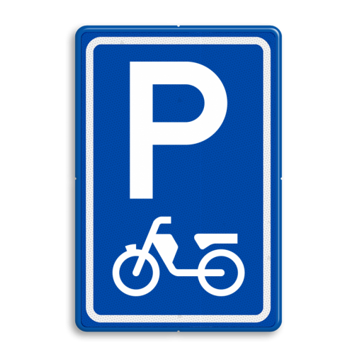 Verkeersbord E8a Parkeerplaats Brommers Kopen? Bestel nu hier!>>