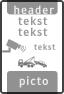 Koptekst - 2 tekstregels + 2x pictogram + Ondertekst