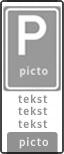 Verkeersteken 2:3 - 6 tekstregels - Pictogram