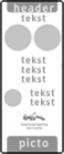 koptekst - 1 tekstregel - 2 verkeersteken - 4 tekstregels  - 2 pictogrammen - ondertekst