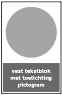 1 picto met vaste tekstblok
